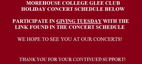 Morehouse College Glee Club 2016 Season